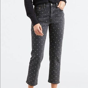 Levi's studded back wash 501 jeans